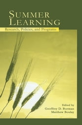 Summer Learning - Research, Policies, and Programs ebook by