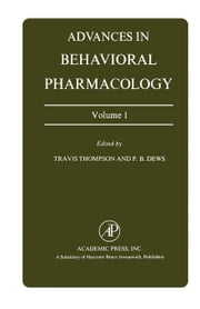 Advances in Behavioral Pharmacology ebook by Thompson, Travis