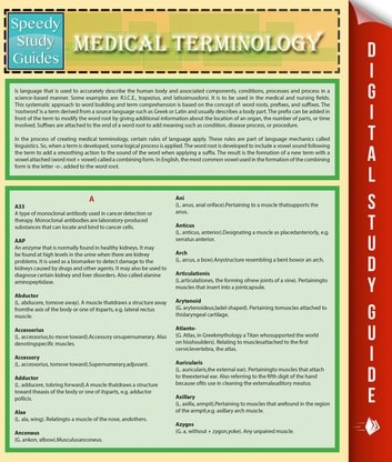Medical Terminology (Speedy Study Guides) ebook by Speedy Publishing LLC