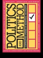 Politics and Method ebook by Doreen Massey,Richard Meegan
