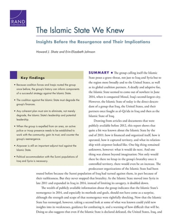 The Islamic State We Knew - Insights Before the Resurgence and Their Implications ebook by Howard J. Shatz,Erin-Elizabeth Johnson