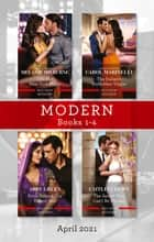 Modern Box Set 1-4 Apr 2021/One Hot New York Night/The Italian's Forbidden Virgin/Bride Behind the Desert Veil/The Secret That Can't Be ebook by Carol Marinelli, ABBY GREEN, Caitlin Crews,...