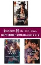 Harlequin Historical September 2018 - Box Set 2 of 2 - An Outlaw to Protect Her\Reclaimed by the Knight\The Mysterious Lord Millcroft ebook by Harper St. George, Nicole Locke, Virginia Heath