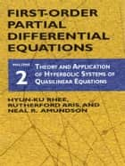 First-Order Partial Differential Equations, Vol. 2 ebook by Hyun-Ku Rhee,Rutherford Aris,Neal R. Amundson