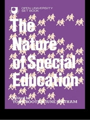 The Nature of Special Education ebook by Tony Booth,June Statham