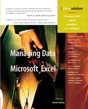 Managing Data with Excel ebook by Carlberg, Conrad