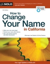 How to Change Your Name in California ebook by Lisa Sedano,Emily Doskow