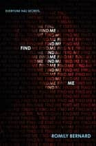 Find Me ebook by Romily Bernard