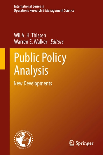 Public Policy Analysis - New Developments ebook by