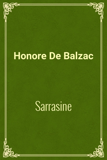 Sarrasine ebook by Honore De Balzac