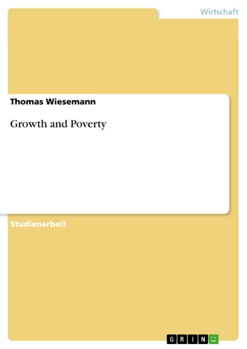 Growth and Poverty ebook by Thomas Wiesemann