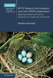 WTO Dispute Settlement and the TRIPS Agreement - Applying Intellectual Property Standards in a Trade Law Framework ebook by Matthew Kennedy