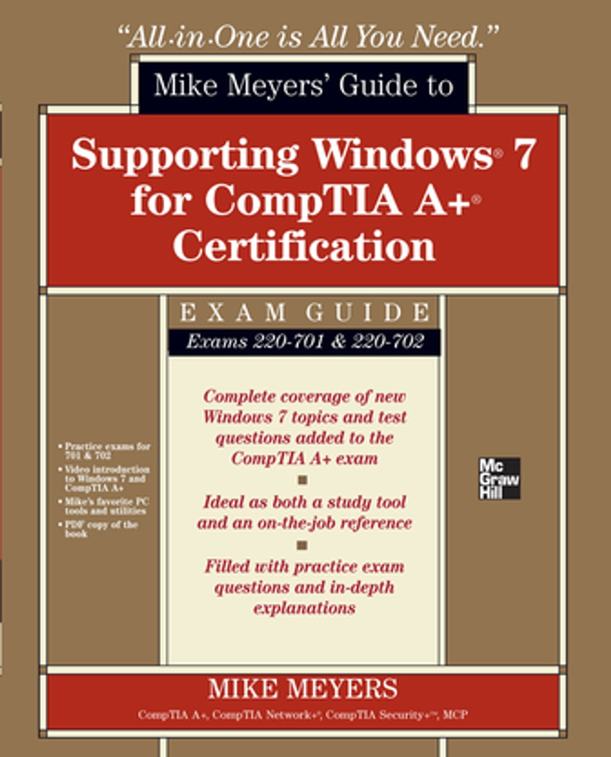 Mike Meyers Guide To Supporting Windows 7 For Comptia A