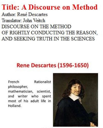 a description of descartes method of doubt Show description read online or download descartes's method of doubt pdf similar epistemology books get pluralism in mathematics: a new position in philosophy of pdf this ebook is set philosophy, arithmetic and common sense, giving a philosophical account of pluralism that is a family members of positions within the philosophy of arithmetic.