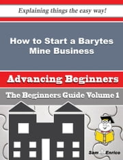 How to Start a Barytes Mine Business (Beginners Guide) ebook by Glenn Chestnut,Sam Enrico