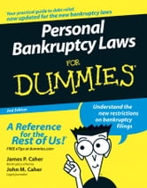 Personal Bankruptcy Laws For Dummies ebook by James P. Caher,John M. Caher
