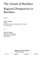 Annals of Bioethics: Regional Perspectives in Bioethics ebook by Mark J. Cherry,John F. Peppin