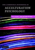 The Cambridge Handbook of Acculturation Psychology ebook by David L. Sam, John W. Berry