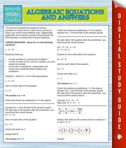 Algebraic Equations And Answers (Speedy Study Guides) ebook by Speedy Publishing