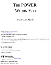 The POWER Within You ebook by Setjhaba Msibi