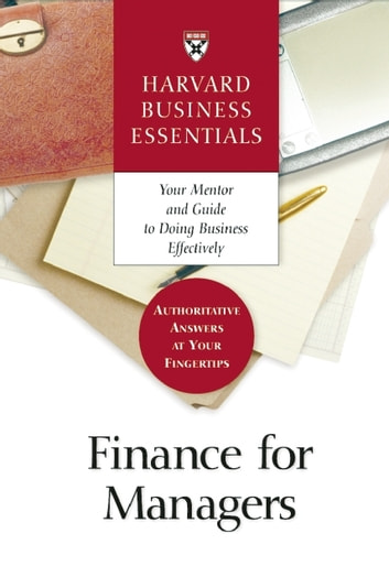 Finance for Managers ebook by Harvard Business Review