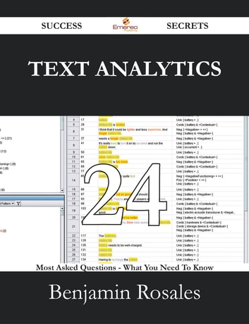 Text Analytics 24 Success Secrets - 24 Most Asked Questions On Text Analytics - What You Need To Know ebook by Benjamin Rosales