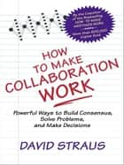 How to Make Collaboration Work - Powerful Ways to Build Consensus, Solve Problems, and Make Decisions ebook by David A. Straus