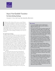 Libya's Post-Qaddafi Transition - The Nation-Building Challenge ebook by Christopher S. Chivvis,Keith Crane,Peter Mandaville,Jeffrey Martini