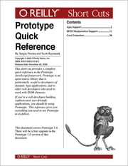 Prototype Quick Reference ebook by Scott Raymond,Sergio Pereira