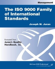 ISO 9000 Family of International Standards ebook by Juran, Joseph M.