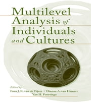 Multilevel Analysis of Individuals and Cultures ebook by Fons J.R. van de Vijver,Dianne A. Van Hemert,Ype H. Poortinga