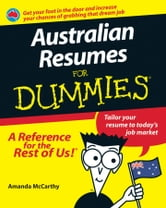 Australian Resumes For Dummies ebook by Amanda McCarthy