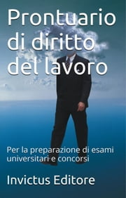 Prontuario di Diritto del Lavoro ebook by Kobo.Web.Store.Products.Fields.ContributorFieldViewModel