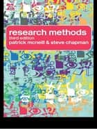 Research Methods ebook by Steve Chapman, Patrick McNeill, Patrick Mcneill