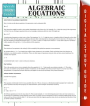 Algebraic Equations ebook by Speedy Publishing