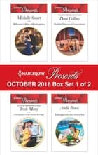 Harlequin Presents October 2018 - Box Set 1 of 2 - Billionaire's Baby of Redemption\Consequence of the Greek's Revenge\Sheikh's Princess of Convenience\Kidnapped for Her Secret Son ekitaplar by Michelle Smart, Trish Morey, Dani Collins,...