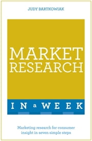 Market Research In A Week - Market Research In Seven Simple Steps ebook by Judy Bartkowiak