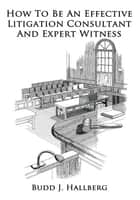 How To Be An Effective Litigation Consultant And Expert Witness ebook by Budd J. Hallberg