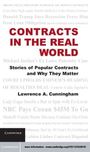 Contracts in the Real World ebook by Cunningham, Lawrence A.