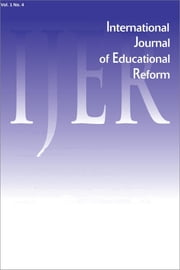 IJER Vol 1-N4 ebook by International Journal of Educational Reform