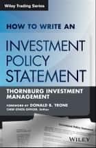 How to Write an Investment Policy Statement ebook by Rocco DiBruno
