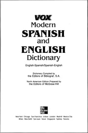 Vox Modern Spanish and English Dictionary ebook by Vox