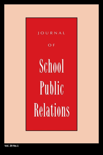 Jspr Vol 29-N1 ebook by Journal of School Public Relations