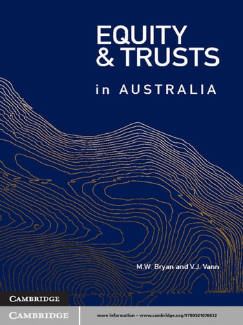 Equity and Trusts in Australia ebook by Professor Michael Bryan,Dr Vicki Vann