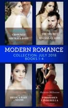 Modern Romance July 2018 Books 1-4 Collection: Crowned for the Sheikh's Baby / The Secret the Italian Claims / The Bride's Baby of Shame / Tycoon's Forbidden Cinderella ekitaplar by Sharon Kendrick, Jennie Lucas, Caitlin Crews,...