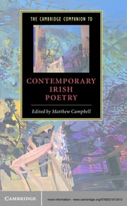 The Cambridge Companion to Contemporary Irish Poetry ebook by Matthew Campbell