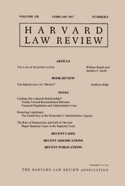 Harvard Law Review: Volume 130, Number 4 - February 2017 ebook by Harvard Law Review