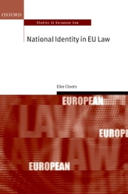 National Identity in EU Law ebook by Elke Cloots