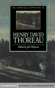 The Cambridge Companion to Henry David Thoreau ebook by Joel Myerson