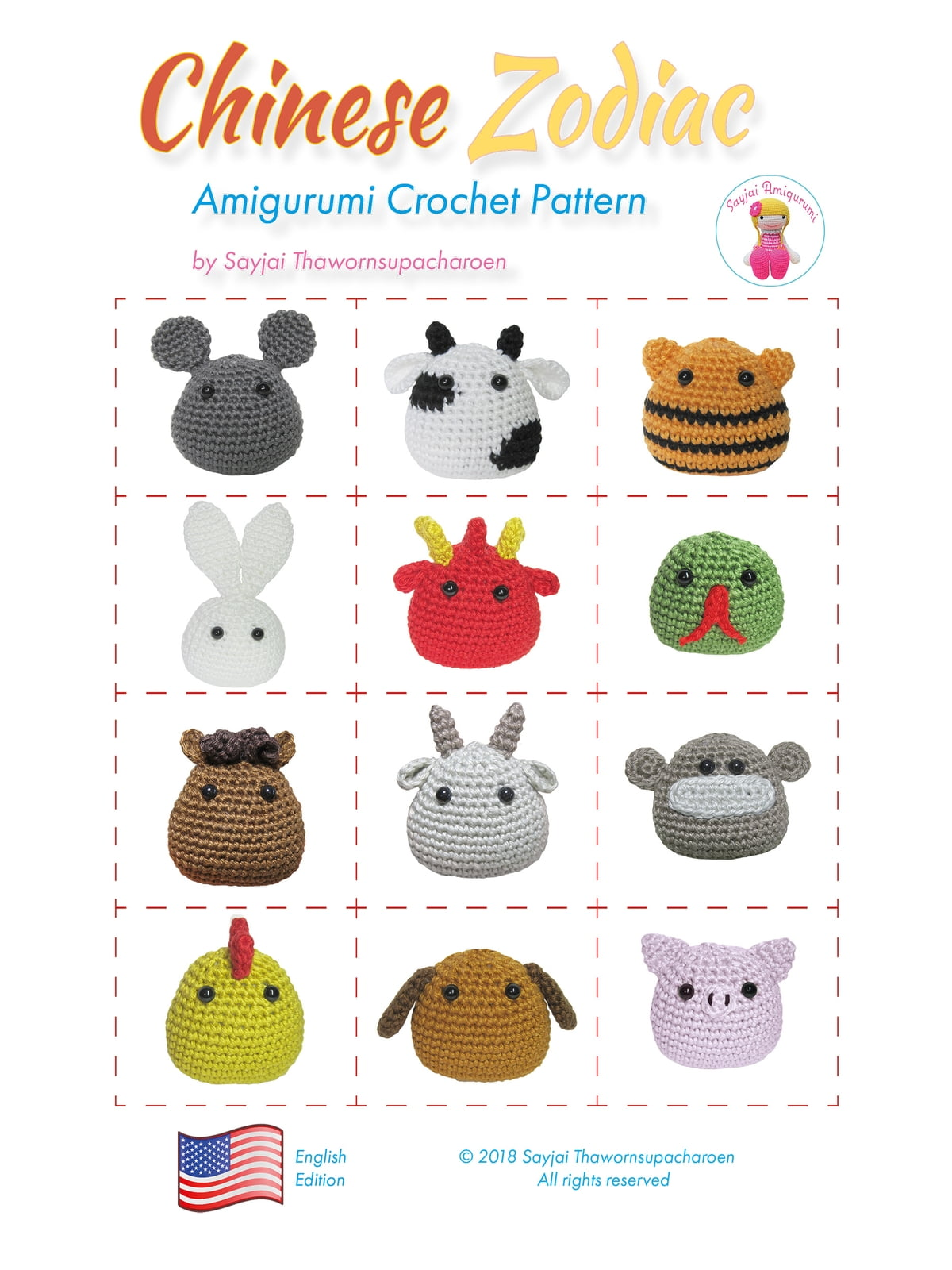 Chinese Zodiac Amigurumi Crochet Pattern eBook by Sayjai ...